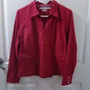 Red Tommy Hilfiger Stretch Polo
